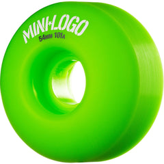 Mini Logo C-Cut Wheel - Green - 54mm 101a - Skateboard Wheels (Set of 4)