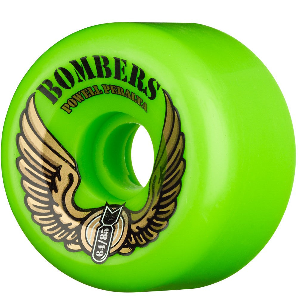 Powell Peralta Bombers - Green - 64mm 85a - Skateboard Wheels (Set of 4)