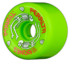 Powell Peralta G-Bones - Green - 64mm 97a - Skateboard Wheels (Set of 4)