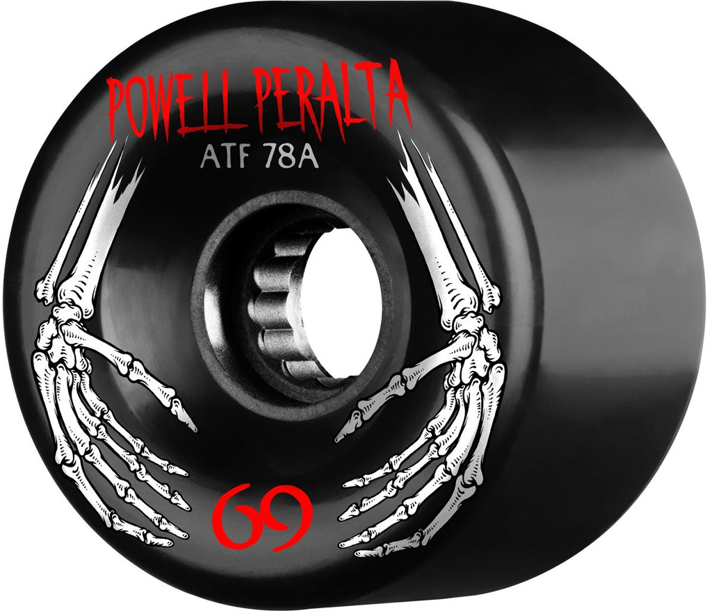 Powell Peralta ATF - Black - 69mm 78a - Skateboard Wheels (Set of 4)