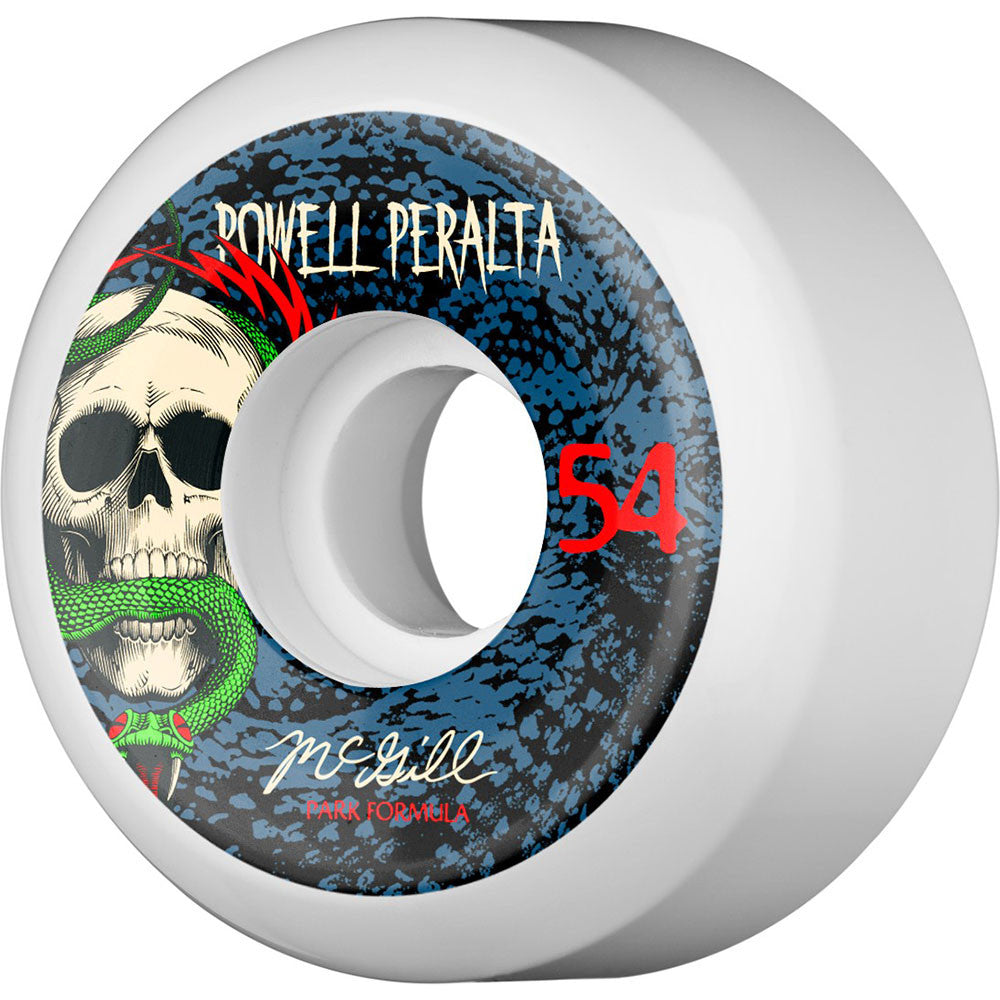Powell Peralta Mike McGill Snake - White - 54mm - Skateboard Wheels (Set of 4)