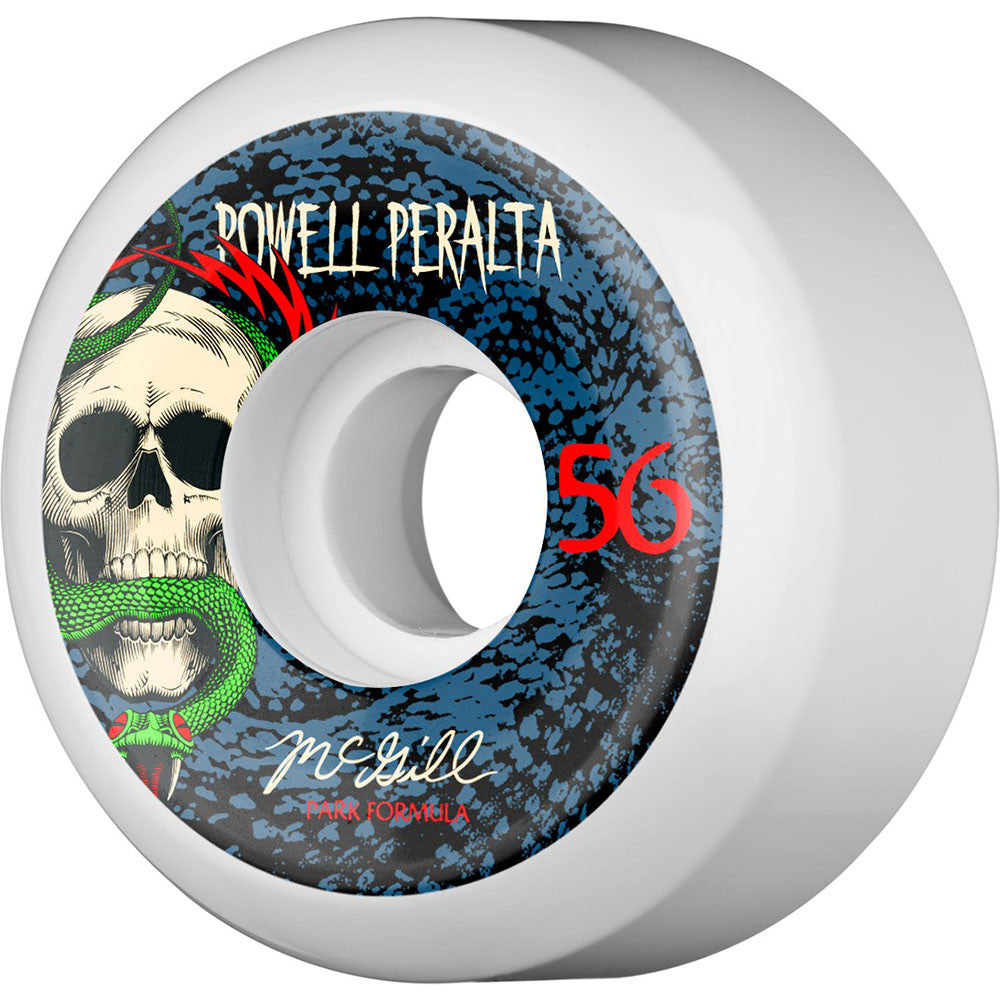 Powell Peralta Mike McGill Snake - White - 56mm - Skateboard Wheels (Set of 4)