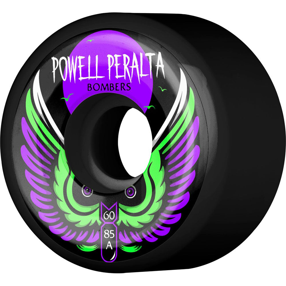 Powell Peralta Bomber III - Black - 60mm 85a - Skateboard Wheels (Set of 4)