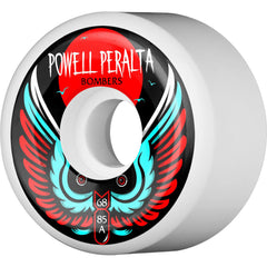 Powell Peralta Bomber III - White - 68mm 85a - Skateboard Wheels (Set of 4)