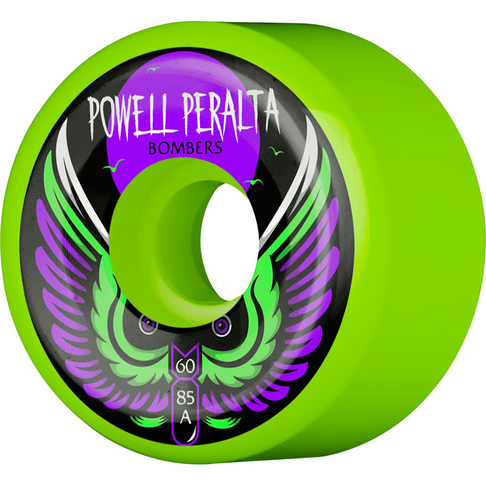Powell Peralta Bomber III - Green - 60mm 85a - Skateboard Wheels (Set of 4)