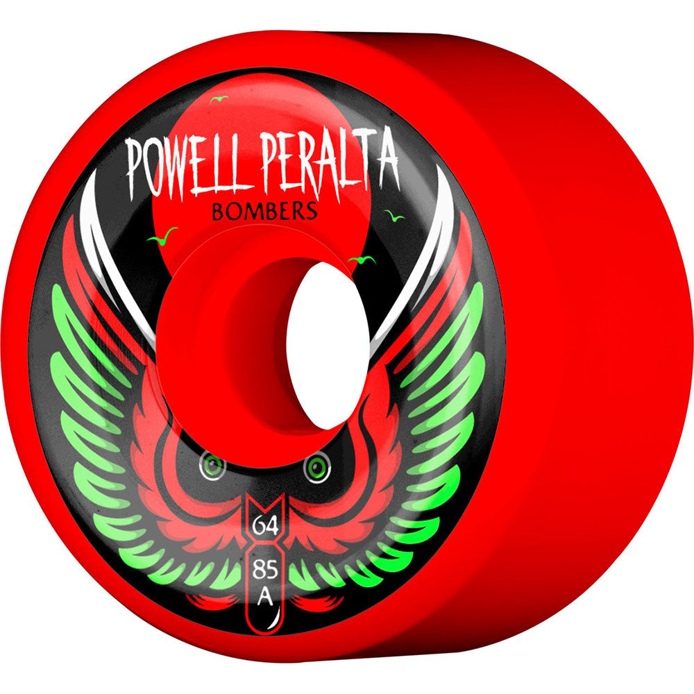 Powell Peralta Bomber III - Red - 64mm 85a - Skateboard Wheels (Set of 4)