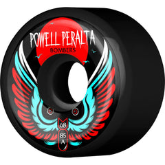 Powell Peralta Bomber III - Black - 68mm 85a - Skateboard Wheels (Set of 4)