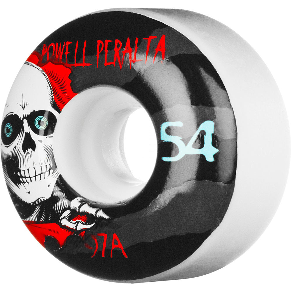 Powell Peralta Ripper 2 - White - 54mm 97a - Skateboard Wheels (Set of 4)
