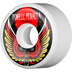 Powell Peralta Bomber III - White - 60mm 84b - Skateboard Wheels (Set of 4)