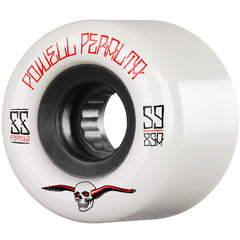 Powell Peralta G-Slides - White - 59mm 85a - Skateboard Wheels (Set of 4)