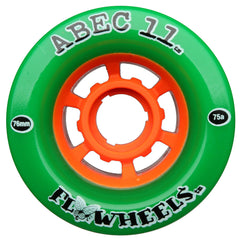 Abec 11 Flywheels - Green - 76mm 75a - Skateboard Wheels (Set of 4)