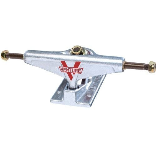 Venture Polished High - Silver/Silver - 5.0in - Skateboard Trucks (Set of 2)