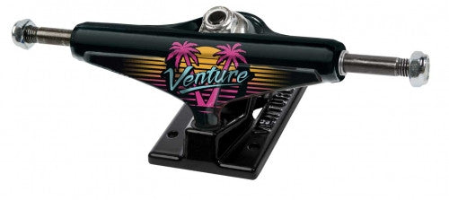 Venture Spring Break High - Black/Black - 5.25in - Skateboard Trucks (Set of 2)