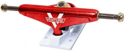 Venture Blaze Low - Red/White - 5.0in - Skateboard Trucks (Set of 2)