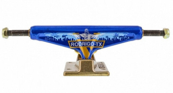 Venture Rodrigo Redentor High - Blue/Gold - 5.25 - Skateboard Trucks (Set of 2)