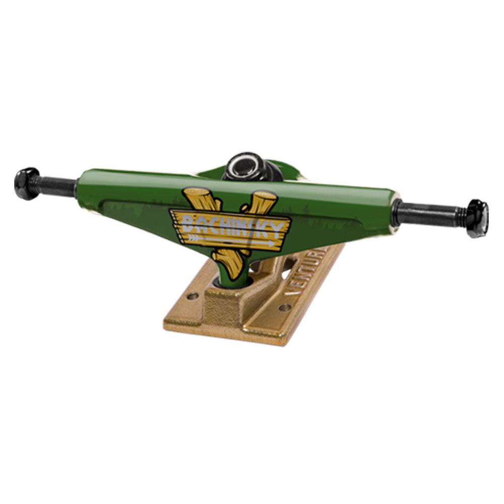 Venture Bachinsky Great Outdoors High - Green/Gold - 5.25 - Skateboard Trucks (Set of 2)