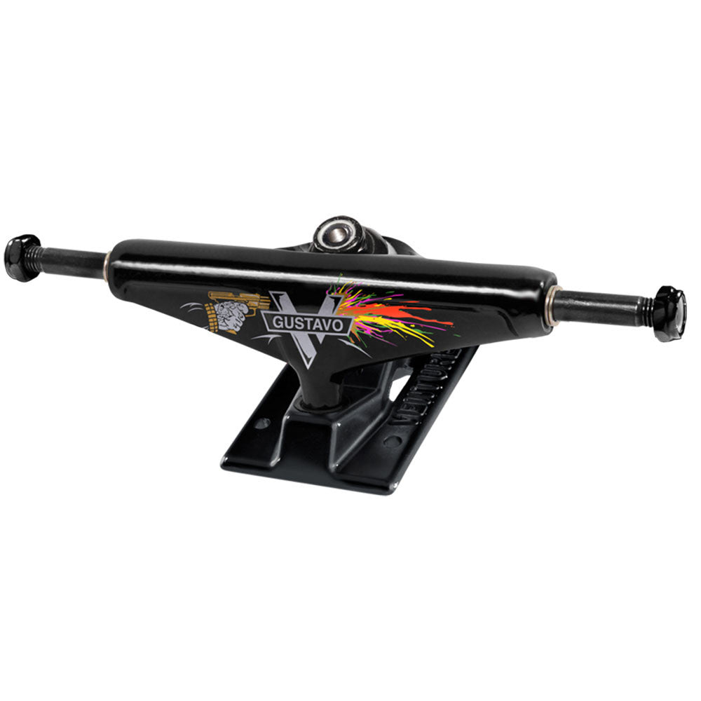Venture Gustavo Mastermind V-Lights High - Black/Black - 5.25 - Skateboard Trucks (Set of 2)