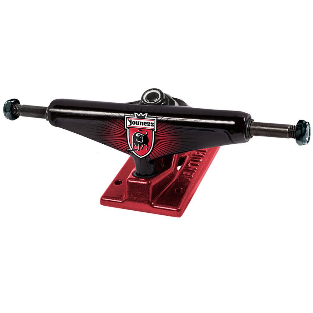 Venture Youness League Low - Black/Red - 5.25 - Skateboard Trucks (Set of 2)