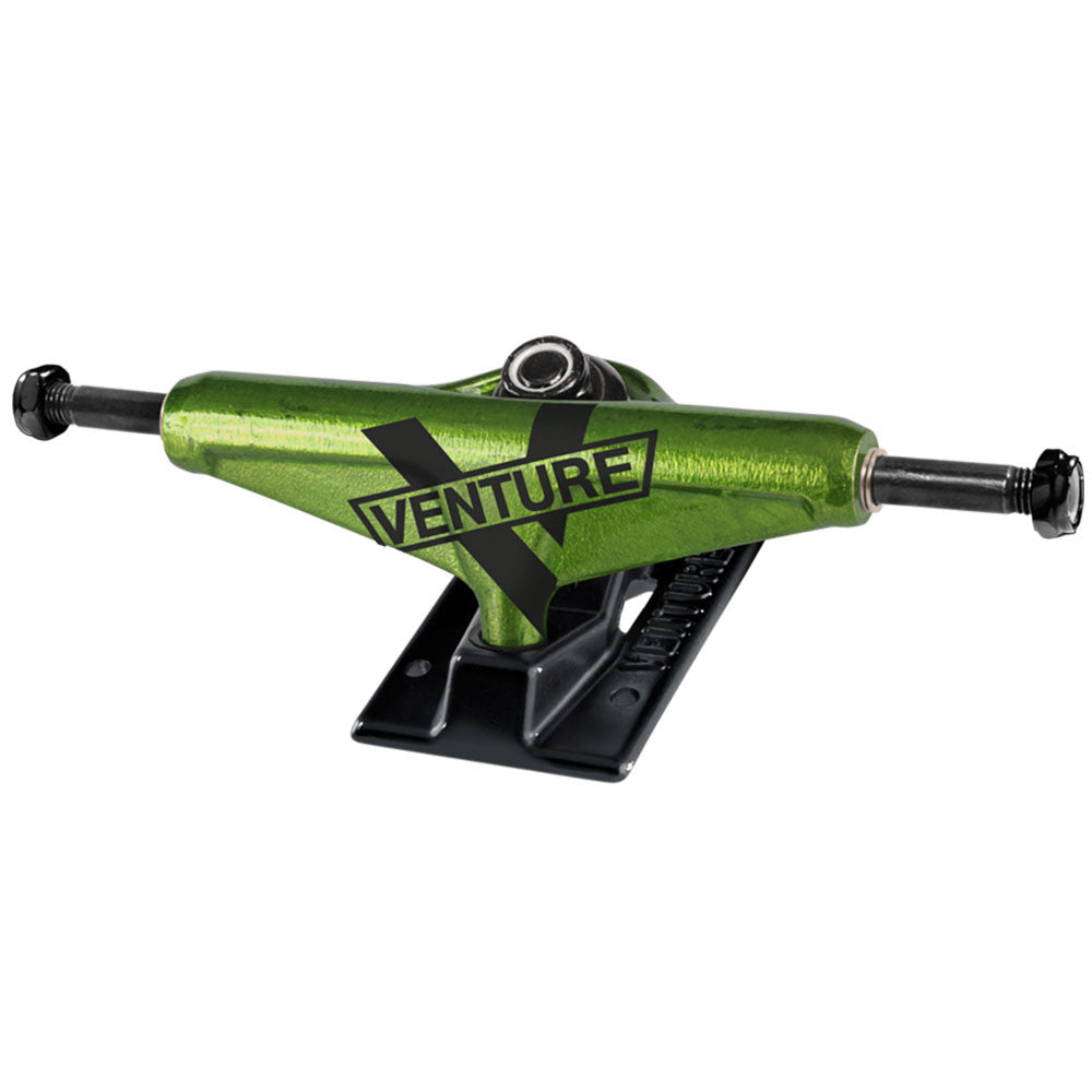 Venture Toxic Marquee Low - Green/Black - 5.0 - Skateboard Trucks (Set of 2)