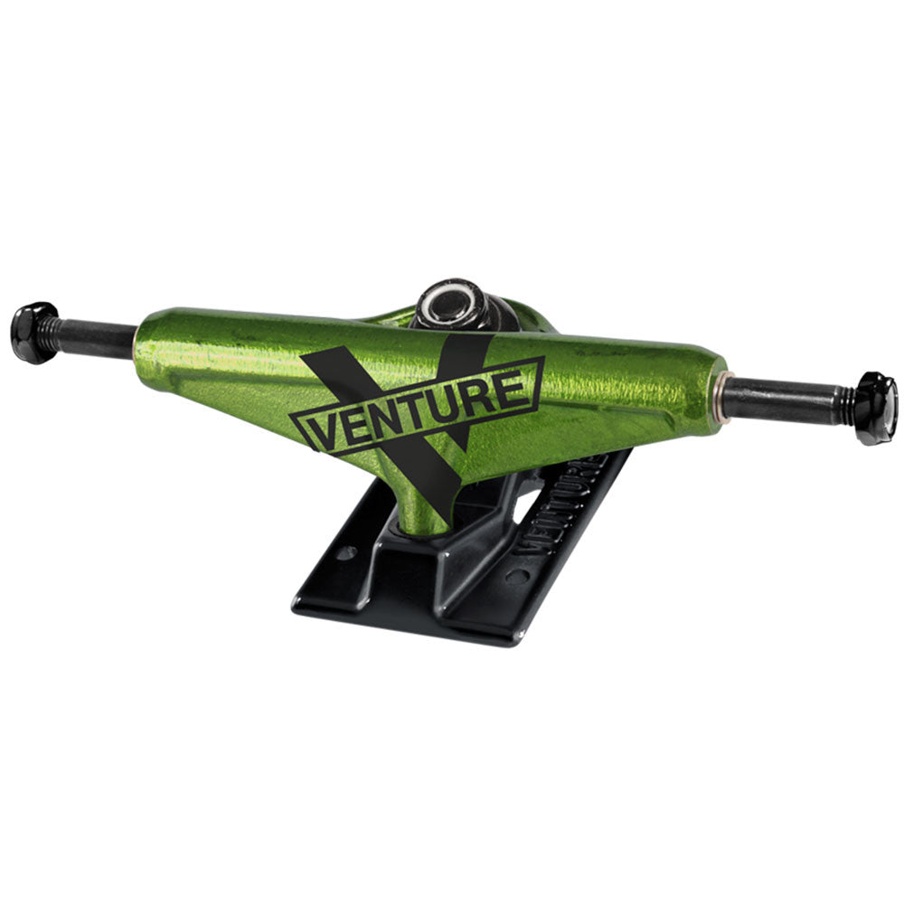 Venture Toxic Marquee High - Green/Black - 5.0 - Skateboard Trucks (Set of 2)