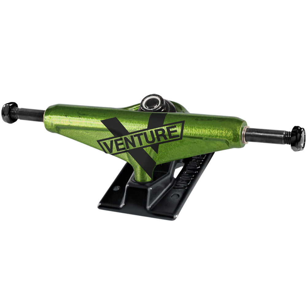 Venture Toxic Marquee High - Green/Black - 5.25 - Skateboard Trucks (Set of 2)