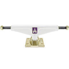 Venture Icon - White/Gold - 5.2 - Skateboard Trucks (Set of 2)