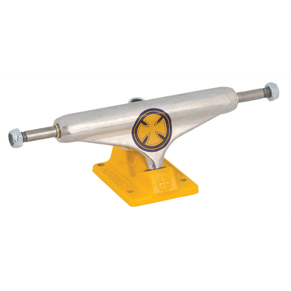 Independent 149 Stage 11 Strike Cross Standard - Polished/Yellow - Skateboard Trucks (Set of 2)