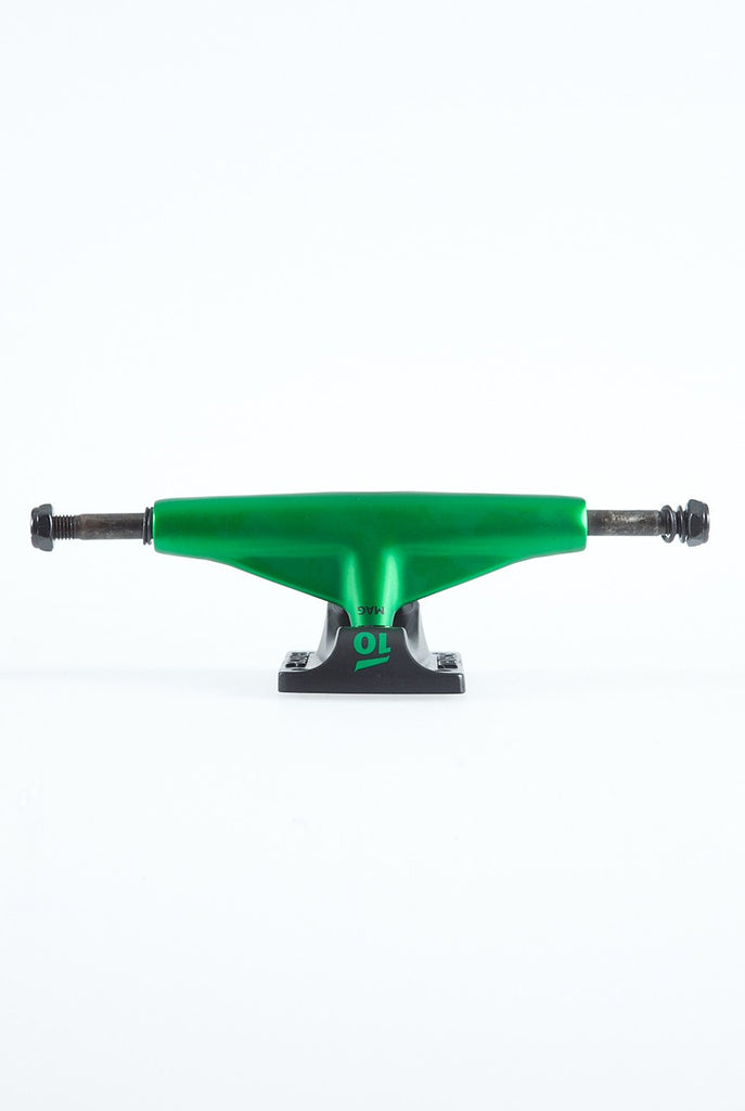 Tensor Magnesium Low Colored - Green/Black - 5.0in - Skateboard Trucks (Set of 2)