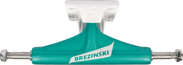 Tensor Aluminum Regular Vex Brezinski - Cyan/White - 5.0in - Skateboard Trucks (Set of 2)