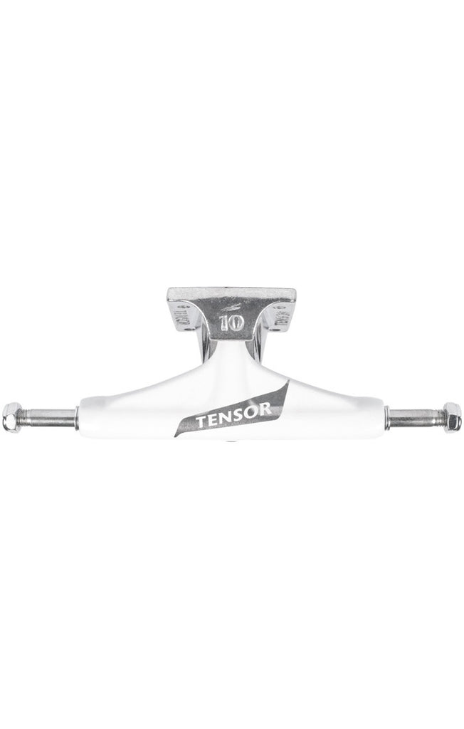 Tensor Aluminum Regular Tens Flick - White/Raw - 5.25 - Skateboard Trucks (Set of 2)