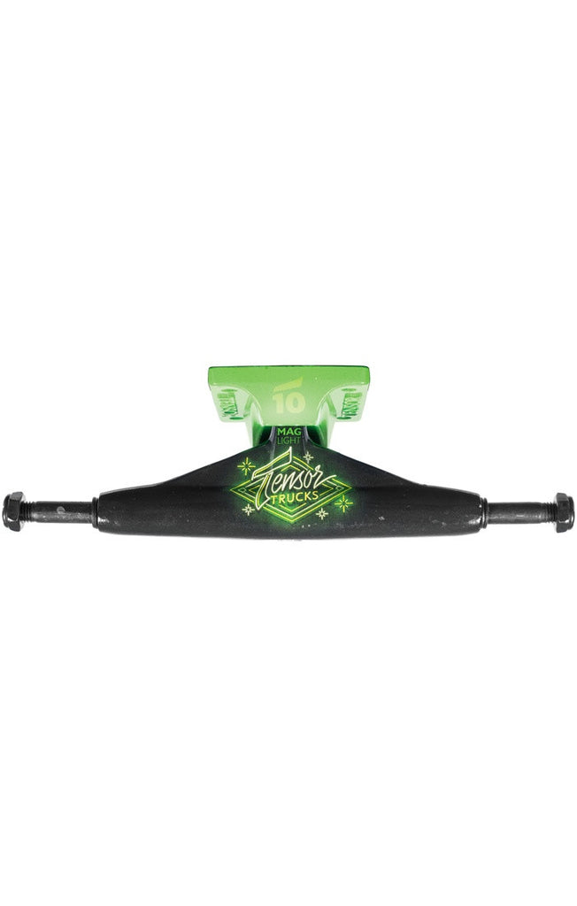 Tensor Aluminum Low Neon Logo - Black/Toxic Green - 5.5 - Skateboard Trucks (Set of 2)