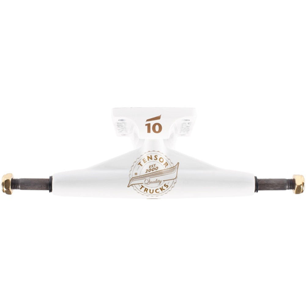 Tensor Quality Seal Low - White/White/Gold - 5.25 - Skateboard Trucks (Set of 2)