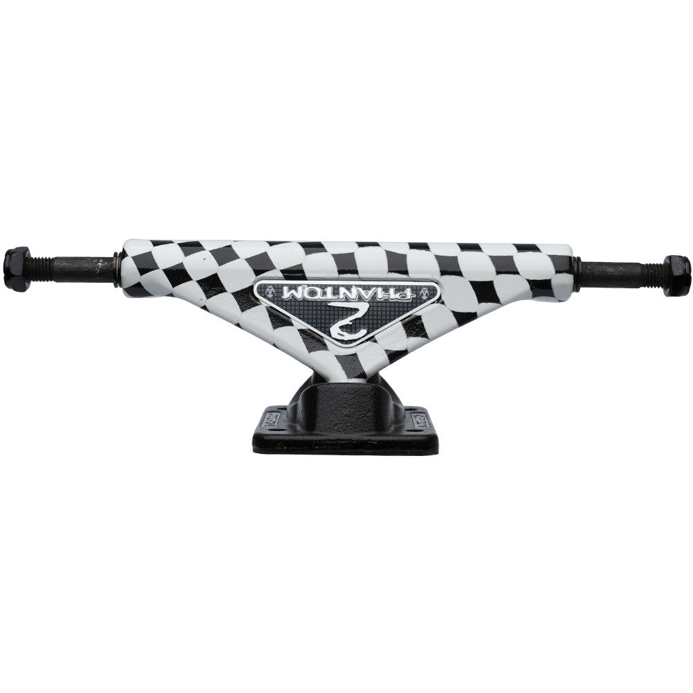 Phantom 2 Checker - Black/White - 8.0in - Skateboard Trucks (Set of 2)
