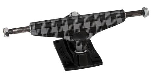 Krux 3.5 Plaidypus Tall - Grey Checker/Black - 5.0in - Skateboard Trucks (Set of 2)