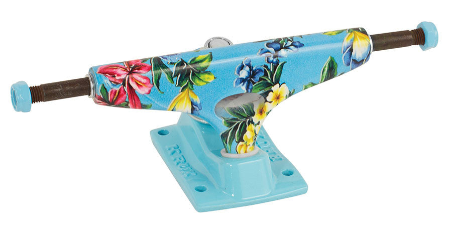 Krux 4.0 BoKay Tall - Blue/Multi - 5.35in - Skateboard Trucks (Set of 2)