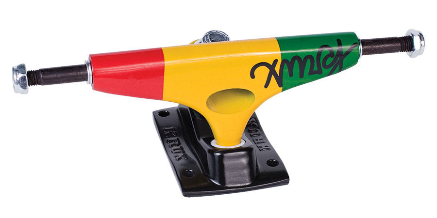 Krux 8.0 DUB Forged Standard - Rasta - 5.35in - Skateboard Trucks (Set of 2)
