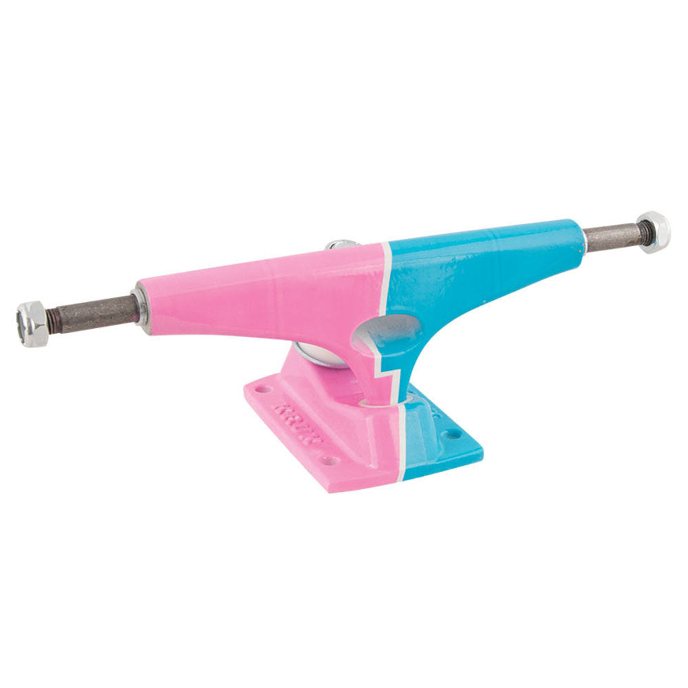 Krux 8.00 Graphic Bolt Standard - Pink/Blue - 5.35in - Skateboard Trucks (Set of 2)