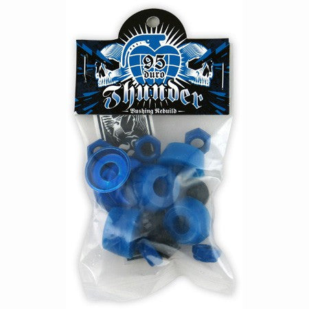 Thunder Rebuild Kit - Blue - 95du - Skateboard Bushing Rebuild Kit (4 PC)