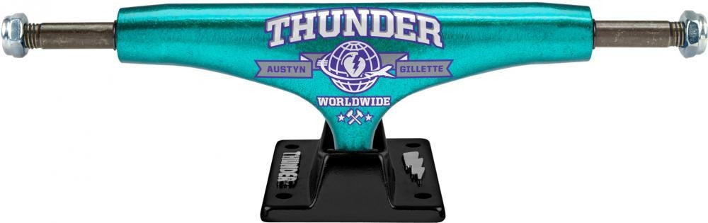 Thunder Gillette Jetset 2 Lights High - Teal/Black - 145mm - Skateboard Trucks (Set of 2)