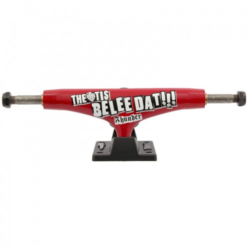 Thunder Theotis Believe High - Red/Black - 145mm - Skateboard Trucks (Set of 2)