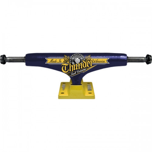 Thunder Draft Low - Blue/Yellow - 145mm - Skateboard Trucks (Set of 2)