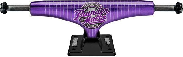Thunder Malto Titanium Triple Play Lights High - Purple/Black - 149mm - Skateboard Trucks (Set of 2)