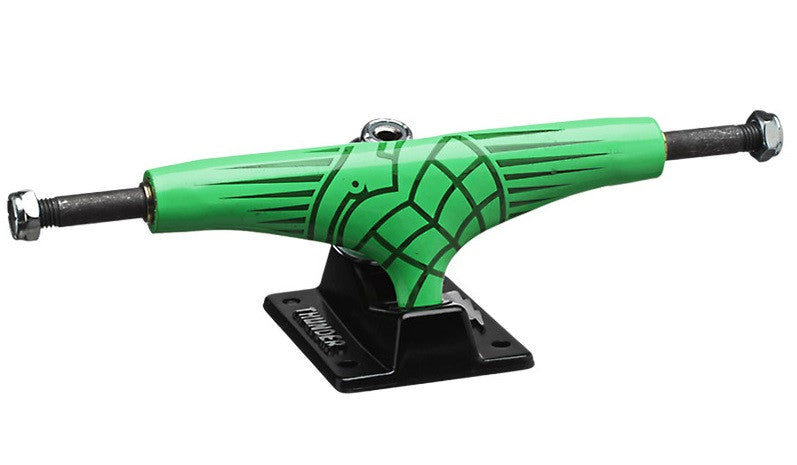 Thunder Fluoro Green Hollow Lights Low - Green/Black - 145mm - Skateboard Trucks (Set of 2)