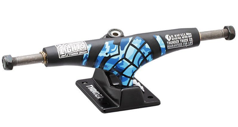 Thunder Sonora Lights Special Ops Low - Black/Blue - 145mm - Skateboard Trucks (Set of 2)