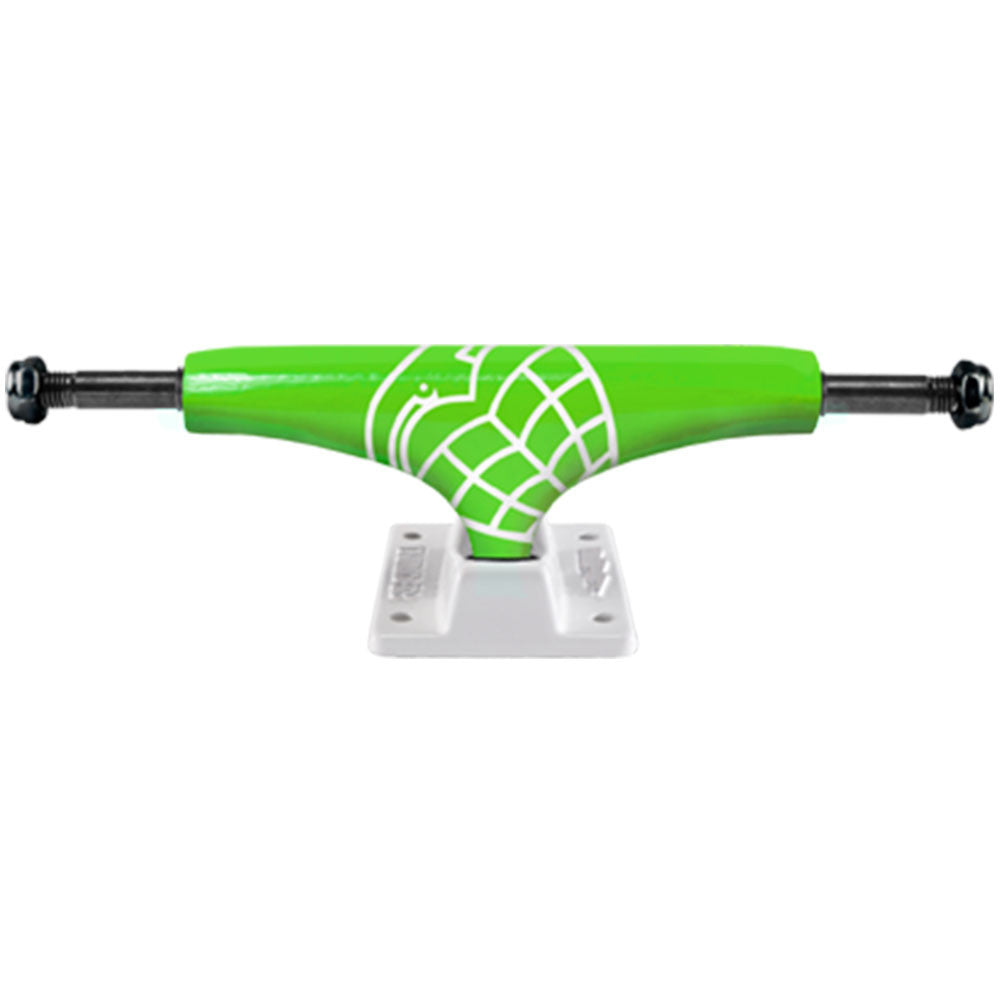 Thunder Sonora Lights High - Neon Green/White - 143mm - Skateboard Trucks (Set of 2)