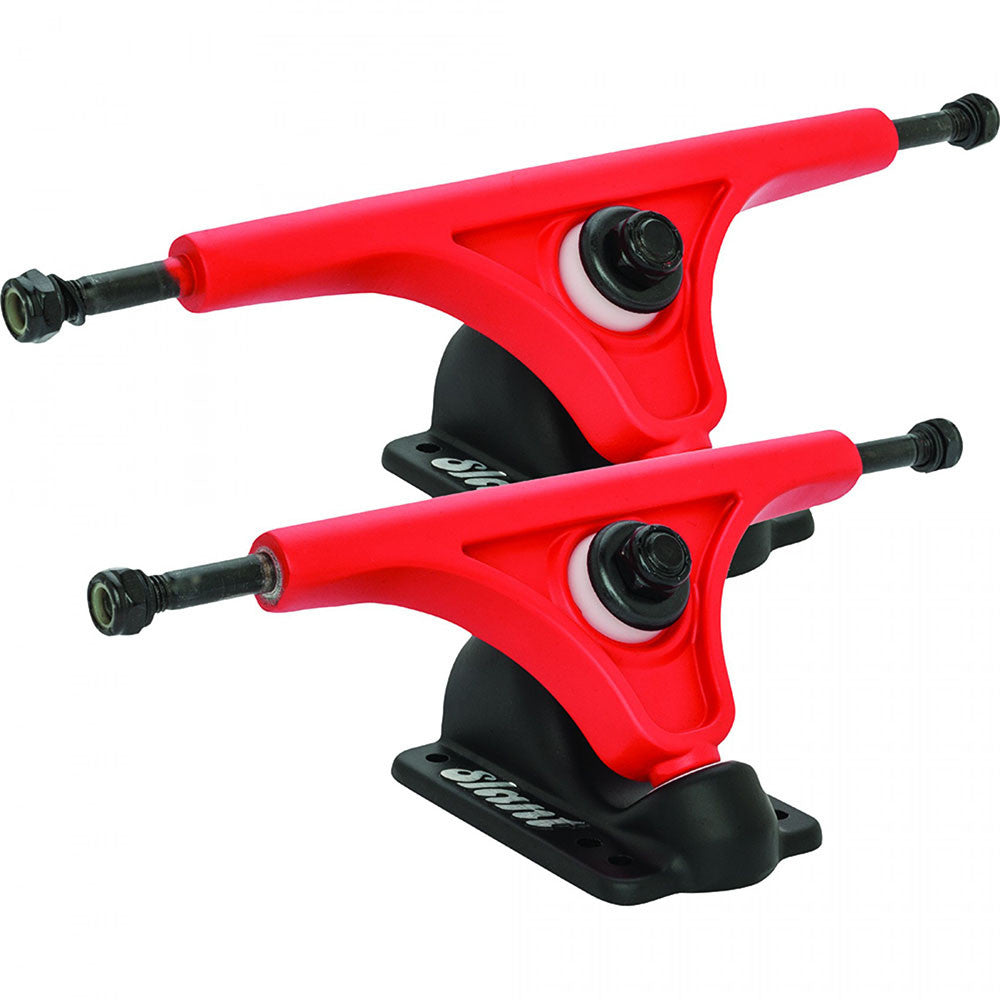 Globe Slant Reverse Kingpin - Flat Red/Flat Black - 180mm - Skateboard Trucks (Set of 2)