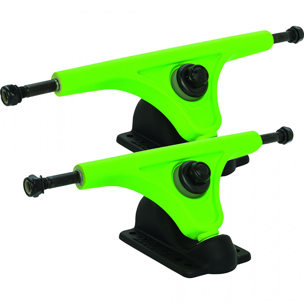 Globe Slant Magnesium Reverse Kingpin - Fluoro Green/Black - 180mm - Skateboard Trucks (Set of 2)