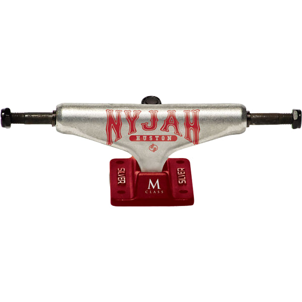 Silver Nyjah Everlast - Raw/Red - 8.0in - Skateboard Trucks (Set of 2)