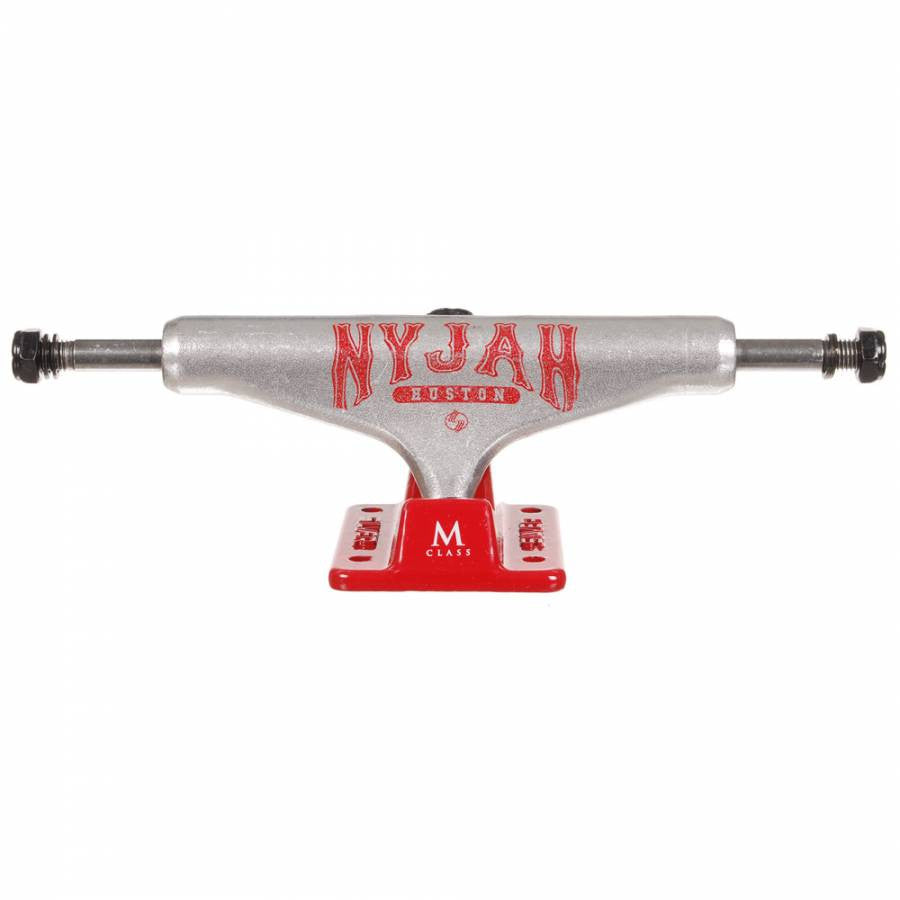 Silver M Class Nyjah - Raw/Red - 8.0in - Skateboard Trucks (Set of 2)