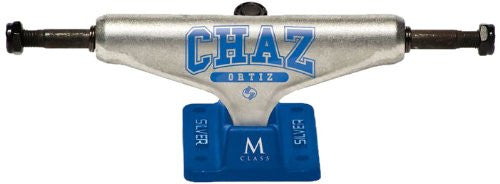 Silver M Class Ortiz - Raw/Blue - 8.0in - Skateboard Trucks (Set of 2)